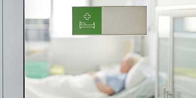 patient in a hospital room